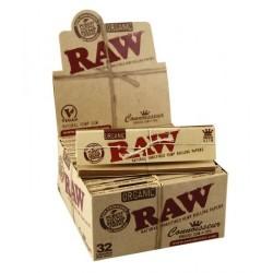 RAW 1 1/4 ORGANIC  24UNID/CAJA