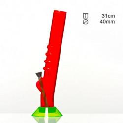 Bong Acrilico HangOver - Rojo - H:31cm - D:40mm